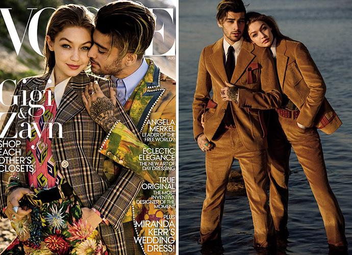 Gigi Hadid And Zayn Malik Pose For Gender Fluid Vogue Cover