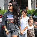 Kourtney Kardashian Helps Her Kids Beat The Heat With Ice Cream