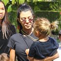 Kourtney Kardashian Can Hardly Keep Her Eyes Open During An Outing With Her Three Kids