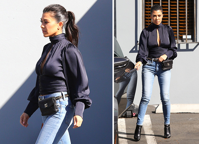 Kourtney Kardashian KISS Younes Bendjima at Paris Soccer Game