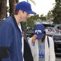 Ashton Kutcher And Mila Kunis Watch The Dodgers Beat The Astros At Game 6 Of The World Series