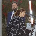 "<em><span class=""exclusive"">EXCLUSIVE PHOTOS</span></em> - Ben Affleck Dresses As Donald Trump For Halloween With Jen & The Kids"