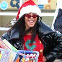 Kourtney Kardashian Rocks An Ugly Christmas Sweater While Toy Shopping