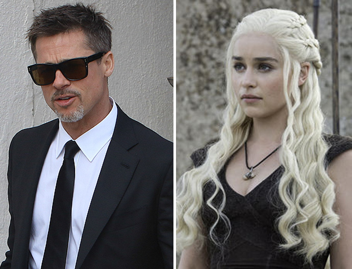 Brad Pitt Bid $120000 to Watch 'Game of Thrones' With Emilia Clarke