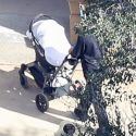 """<em><span class=""""exclusive"""">EXCLUSIVE PHOTOS</span></em> - Baby Chicago West Goes For A Stroll On Family's Huge Hidden Hills Estate And Saint West Surveys The Construction Zone He's Living In"""