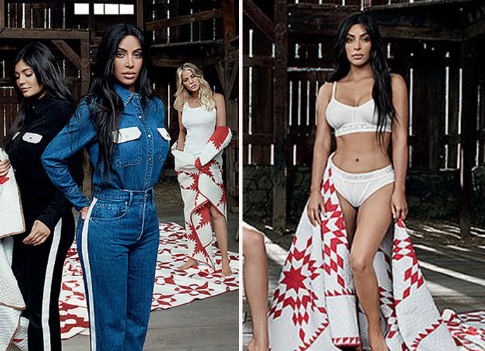 Pregnant Kylie features in ad with sisters