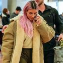 Pink-Haired Kim And Kourtney Touch Down In Japan