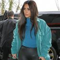 Kim Rocks Her Yeezy 2XU Wetsuit Leggings For Lunch With The WAGS