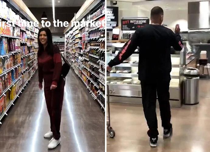 Kourtney Kardashian and Boyfriend Don't Buy Breakup Rumors, Hit the Supermarket