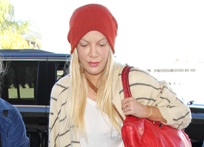 Police called to Tori Spelling's home after actress suffers 'nervous breakdown'