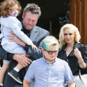 Blake Shelton Takes On Daddy Duty At Church With Gwen And The Kids