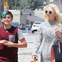 Gwen Stefani's Son Kingston Accompanies Her To The Nail Salon