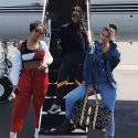 Kylie Jenner And Kourtney Kardashian Head To Coachella On A Private Jet