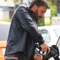 As If The Back Tattoo Weren't Bad Enough! Ben Affleck Flashes His Dolphin Hip Tat While Pumping Gas