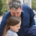 Ben Affleck Plants A Sweet Smooch On Daughter Seraphina At Church