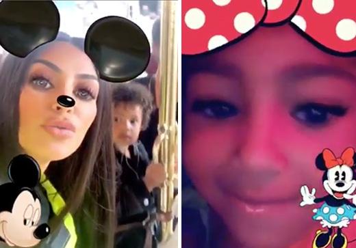 Kim K treats kids North and Saint to a day at Disneyland.