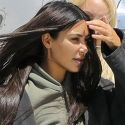 "<em><span class=""exclusive"">EXCLUSIVE PHOTOS</span></em> - Kim Lands Back In LA Via Private Jet After A Brief Stop In Wyoming To Visit Kanye"