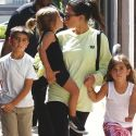 Kourtney Is Back With Her Kids After Sexy Vacay With Younes Bendjima