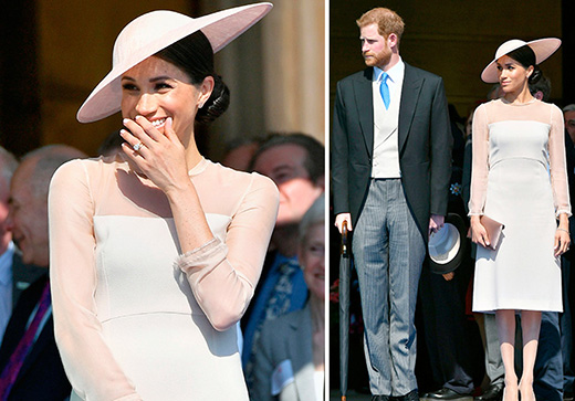 Meghan and Harry attend an early birthday celebration for Prince Charles, just days after their wedding.