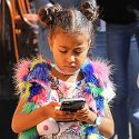 Five-Year-Old Fashionista Nori Texts Up A Storm At Fashion Camp Runway Show