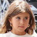 Kourtney Kardashian's Daughter Penelope, 6, Sports Dangly Doorknocker Earrings