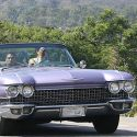 "<em><span class=""exclusive"">EXCLUSIVE PHOTOS & VIDEO</span></em> - Kendall Jenner Cruises In A Vintage Lavender Eldorado"