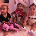 "Kim Kardashian Shares Adorable Photo Of ""The Triplets,"" Chicago, True, And Stormi"