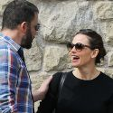 Ben And Jen Share A Tender Moment After Church With Their Kids