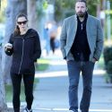 Ben And Jen Bundle Up To Drop Their Kids At School And Go To Therapy
