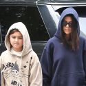 Kourtney And Mason Are Hoodie Monsters; Kanye Wears The Same Sweats For Two Days!