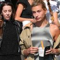 Hailey Baldwin Looks Down In The Dumps While Getting Fro-Yo With Justin Bieber's Mom