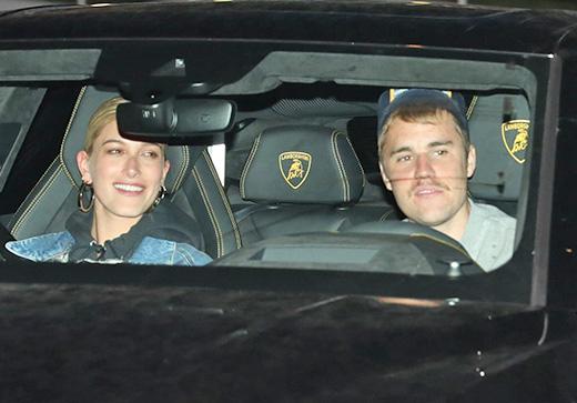 Justin and Hailey arrive at church in their new $250K Lamborghini URUS.