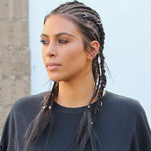 Do You Like Kim K's Pierced Braids?