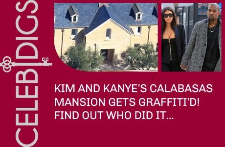 Kim And Kanye's Calabasas Mansion Gets Graffiti'd!