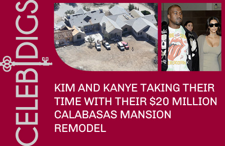 Kim And Kanye Taking Their Time With Calabasas Mansion Remodel