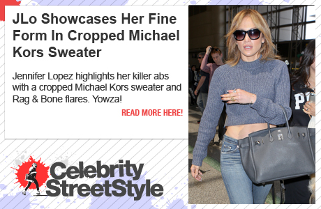 Jennifer Lopez Highlights Fit Form In Cropped Michael Kors Sweater
