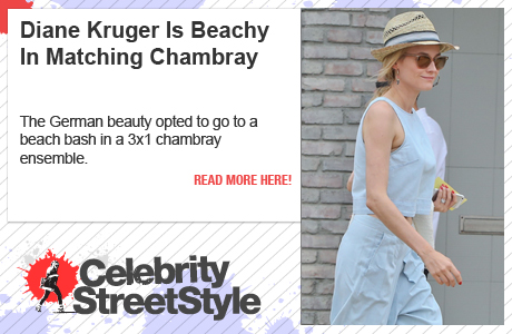 Diane Kruger Is Chic In Chambray
