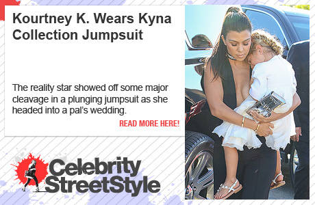 Kourtney Kardashian Shows Off Her Tatas In A Kyna Jumpsuit