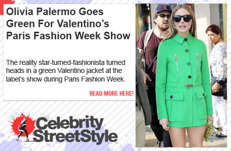 Olivia Palermo Goes Green For Paris Fashion Week
