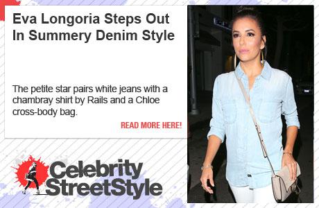 Eva Longoria Turns Up In The Heat In Summer Denim