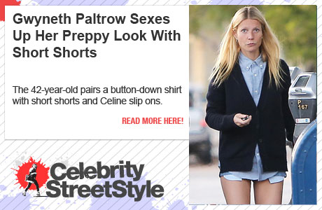 Gwyneth Paltrow Sexes Up Her Preppy Style With A Pair Of Short Shorts