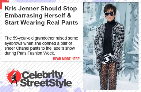Kendall Jenner Keeps It Cool, While Mom Kris Looks Crazypants During Paris Fashion Week