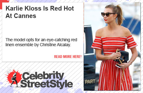 Karlie Kloss Is Red Hot For Cannes Yacht Party
