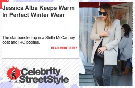 Jessica Alba Suits Up With Perfect Winter Wear