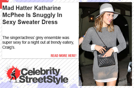 Katharine McPhee Is Snuggly In A Sexy, Affordable Sweater Dress