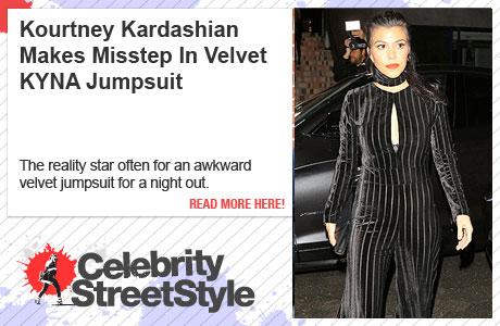 Kourtney Kardashian Missteps In Velvet Jumpsuit