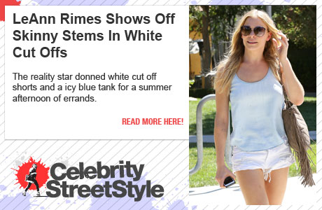 LeAnn Rimes Shows Off Her Skinny Stems In Short Shorts