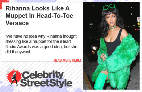 Rihanna Looks Like A Muppet In Head-To-Toe Versace