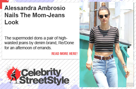 Alessandra Ambrosio Nails The Mom-Jeans Look