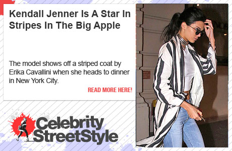 Kendall Jenner Is A Star In Stripes In NYC